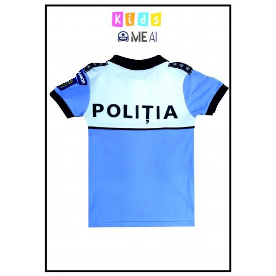 Tricou Alb/Bleu Poliția Rutiera Junior