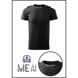 Tricou Glat Negru - Poliția Locală