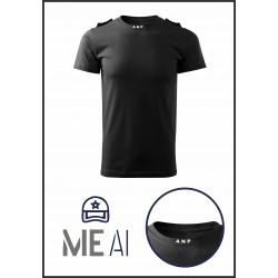 Tricou Glat Negru - ANP Bărbat