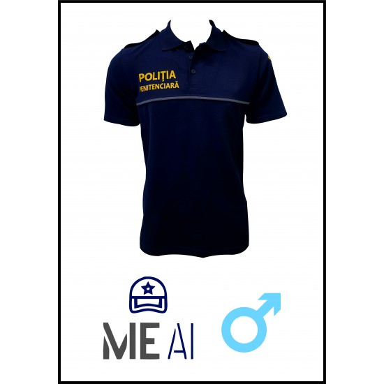 Tricou Polo Bleumarin - Poliția Penitenciară Bărbat