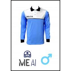 Bluză Polo Alb/Bleu - Poliția Română Bărbat