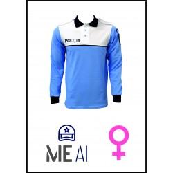 Bluză Polo Alb/Bleu - Poliția Română Damă