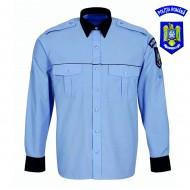 Cămașă bluză bleu cu mânecă lungă bărbați - Poliție