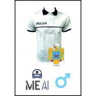 Tricou Polo Alb - Poliția Română Barbat