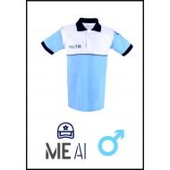 Tricou Polo Alb/Bleu - Poliția Română Barbat