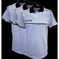 Set 3 Tricouri Polo Alb - Poliția Română