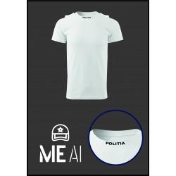 Tricou Glat Alb - Poliția Română Bărbat