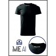 Tricou Glat Negru - Poliția Română