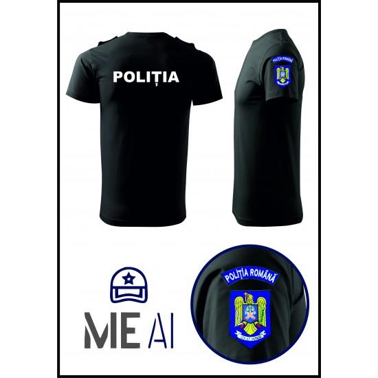 Tricou Glat - Poliția Română Bărbat
