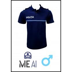 Tricou Polo Bleumarin - Poliția Română Bărbat