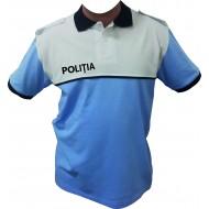Tricou Polo Alb/Bleu - Poliția Română