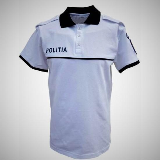 Tricou Polo Alb - Poliția Română